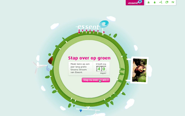Essent stap over op groen